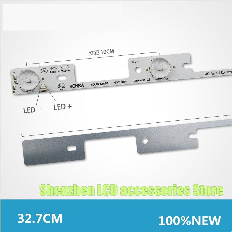 4 Pieces*4 LEDs*6V LED Backlight Bar For TV KDL39SS662U  KDL40SS662U  327mm