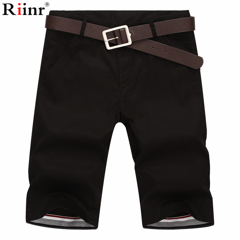Riinr 2019 Shorts Men Summer  Mens Shorts Casual Cotton Slim Bermuda Masculina Beach Shorts Joggers Trousers Knee Length Short
