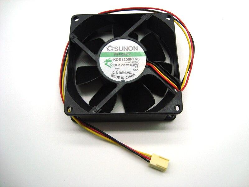 New Original SUNON KDE1208PTV3 12V 0.8W 8025 Cooling Fan for Power Supply, Computer Case, Network Cabinet, Industrial Equipment