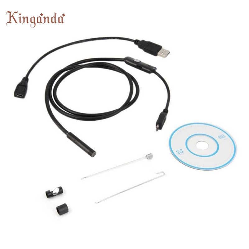Веб-камера 6 светодио дный Водонепроницаемая 1.5m 7 мм Объективы для эндоскопических исследований для Android телефон Камара веб-доставка 17Aug10