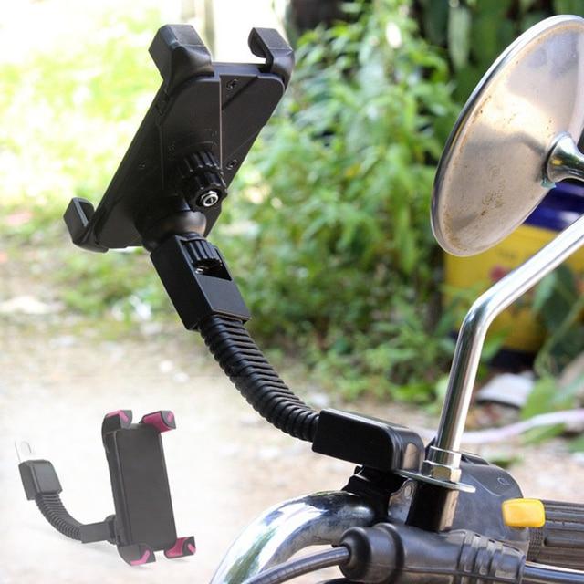Soporte fuerte ajustable motocicleta titular del teléfono universal para el iPhone Samsung Huawei 3.5 pulgadas-7 pulgadas teléfonos celulares buena calidad