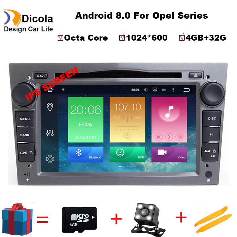 4G + 32G Octa base Android 8.0 7 Pouces Voiture Lecteur DVD Pour OPEL/ASTRA/Zafira /Combo Avec Canbus GPS Navigation Radio WIFI RDS BT Cartes