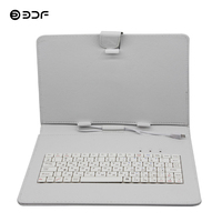 BDF 10 Inch and 10.1 Inch Keyboard Leather Cover Case Solid Protective Shell with Keyboard Russian Keyboard for Tablet Pc Use|Tablets & e-Books Case| |  -