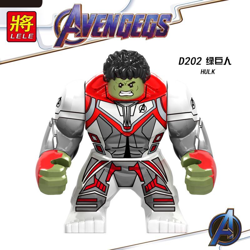 20PCS Avengers 4 Endgame Space Iron MAN Hulk Korg Big Size Building Blocks Action Bricks Figures