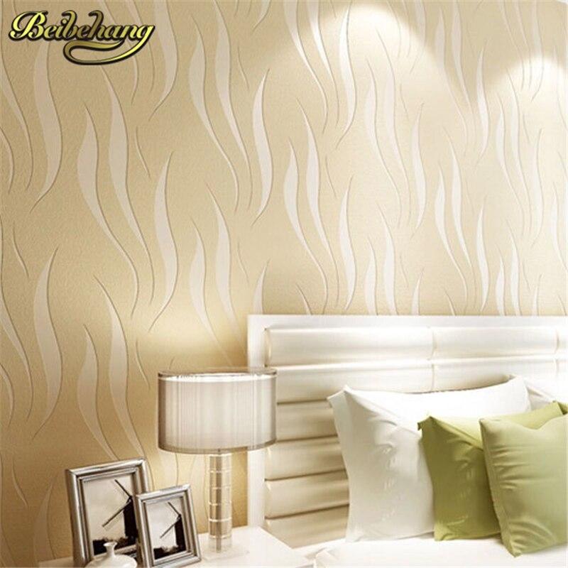 US $28.87 47% OFF|Beibehang papel parede Moderne Solide Kurve Muster Tapete  3D Wandbild Wand Aufkleber Frische Textil Schlafzimmer Tapeten Sofa Wand ...
