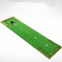 58*300cm Portable Indoor golf Putter trainer Artificial grass Mini Golf greens practice blanket Golf putting mat with hole cup