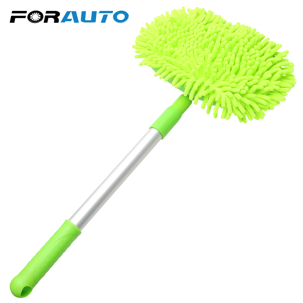 FORAUTO Car Washing Mop Car Cleaning Dust Wax Adjustable Mop Car Accessories Window Wash Tool Auto Care Detailing Car-styling