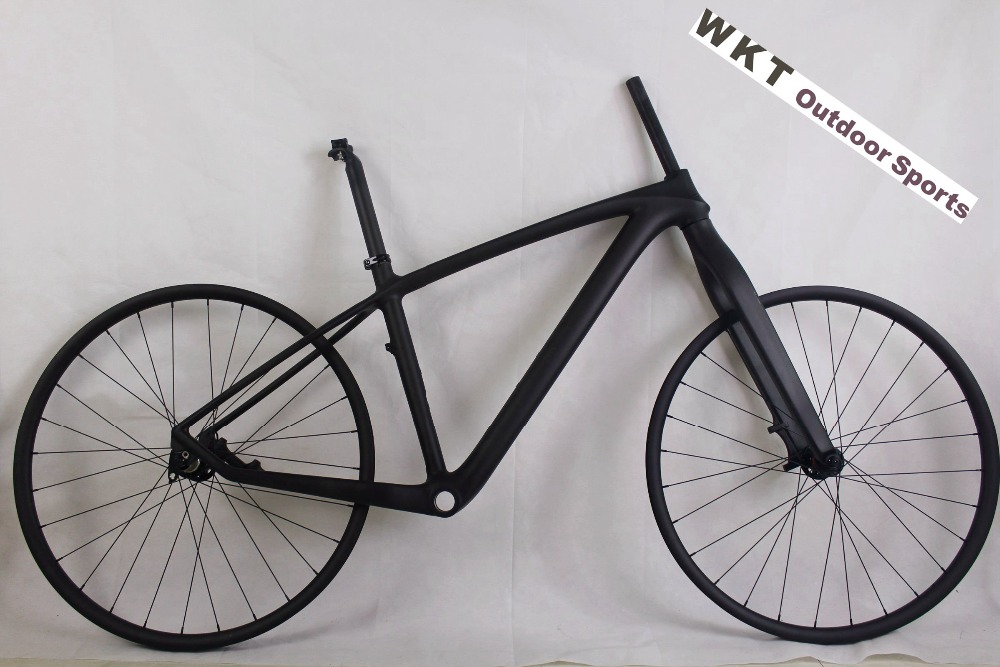 MTB Bike Full carbon fiber complete bike Carbon mountain bicycle with frame+fork+wheels+seatpost free shipping
