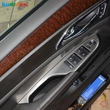 Для Cadillac SRX 2010 2011 2012 2013 нержавеющая сталь внутренняя дверь подлокотник окно Лифт кнопка управления крышка отделка левой руки водителя