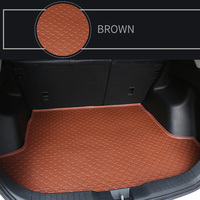 PU Leather material Trunk Mat Fit For VOLKSWAGEN Series Atlas Bora 2008 2018 Eos Polo Golf/Golf 7 Golf Golf tour all models car
