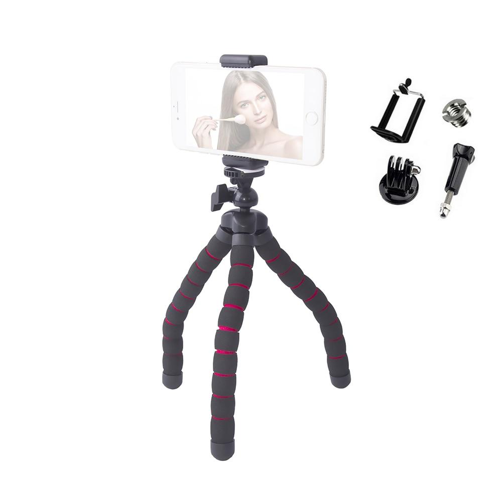 2018 Medium Flexible Digital Camera Table Desk Tripod Stand Mini Tripod Mobile Gorillapod for Gopro hero 4 3+ 3 and phone