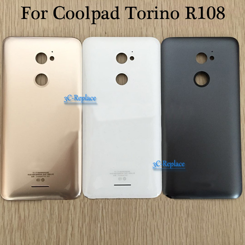 Cover Coolpad Door-Housing-Case Glass-Parts Back-Battery for Torino R108 Rear Gold/white