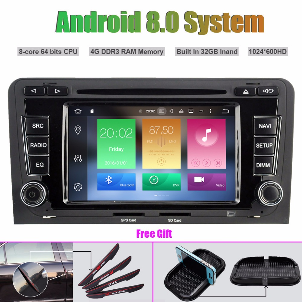 Octa-Core Android 8.0 CAR DVD Player for AUDI A3 S3 RS3 2003-2012