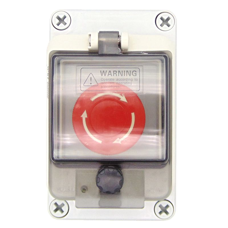 Emergency Stop Switch Protective Cover Button Box Waterproof Button Box Waterproof Switch Box 22mm IP67