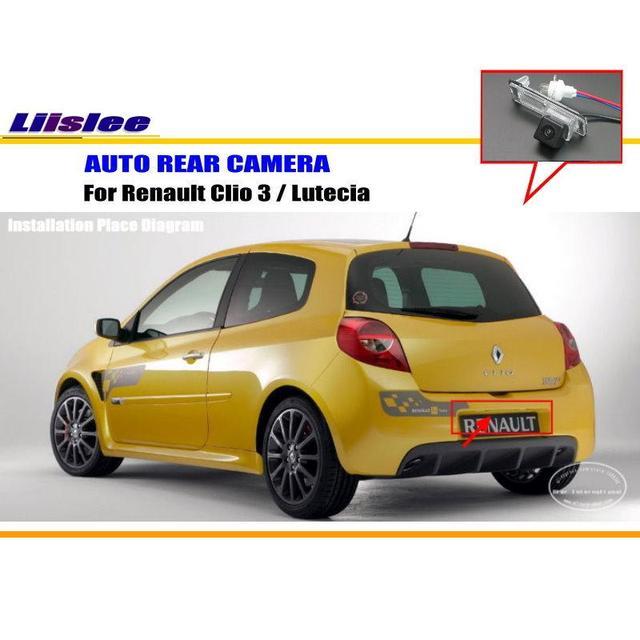 16 68 30 De Reduction Liislee Camera Arriere De Voiture Pour Renault Clio 3 Lutecia Camera De Stationnement Arriere Hd Ccd Rca Ntst