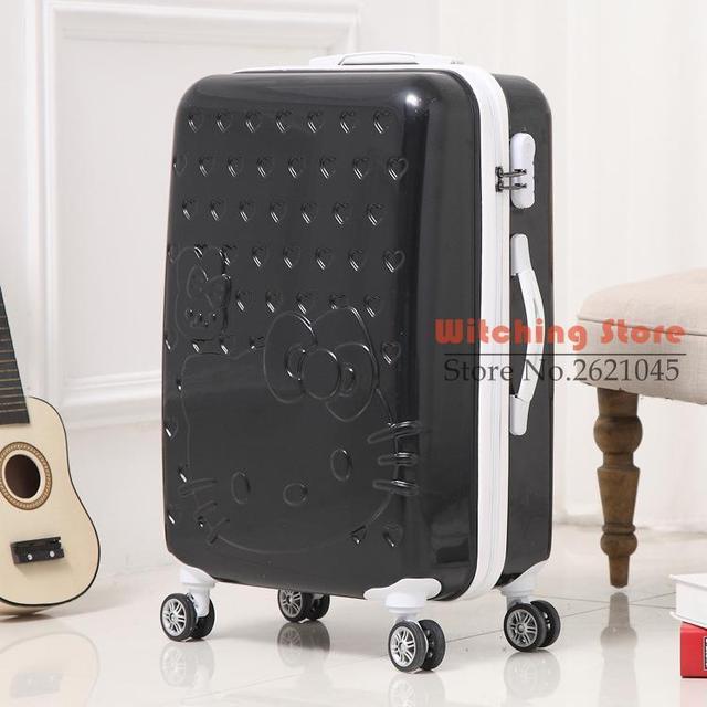 20 INCH  202428# direct mirror rod box universal wheel suitcase 20 Ktmao children female boarding bags #EC FREE SHIPPING