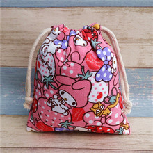 IVYYE 14 or 17CM Melody Cartoon Drawstring Bags Canvas Storage Handbags Makeup Bag Coin Bundle Pocket Purse NEW