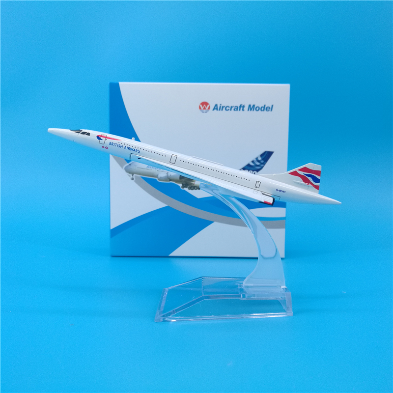 14cm Great British Airlines Airplane Model Metal England Concorde Aviation Model British Airways Aircraft Model Scale 1:400 image