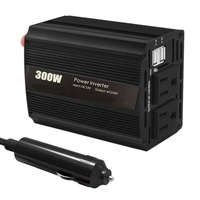 300W Power Inverter Dc 12V To Ac 110V Car Inverter with Dual Ac Outlet and 4.2A Max Dual Usb Charging Port Us Plug
