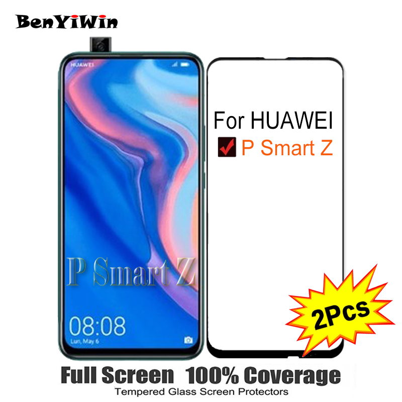 2PCS Full Cover Screen Protector Tempered Glass For Huawei P Smart Z 6.59