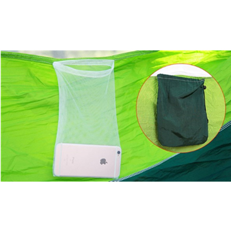 Outdoor Parachute Cloth Hammock With Mosquito Net Ultra Light Nylon Double Army Green Camping Aerial Tent Creative Hammock-68