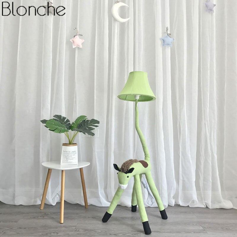 animais para crianças quarto tecido lâmpada tons