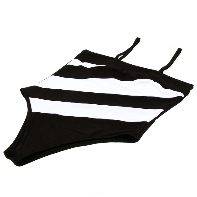 New  Striped Summer Beach Bikini Top Selling Backless Vest Swimsuit Cotton Blend One-Piece Suits