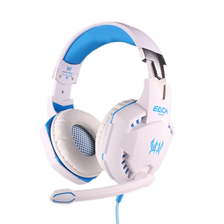 Computer Stereo Gaming Headphones Kotion EACH G2100 Best casque Deep Bass Game Earphone Headset with Mic LED Light for PC Gamer