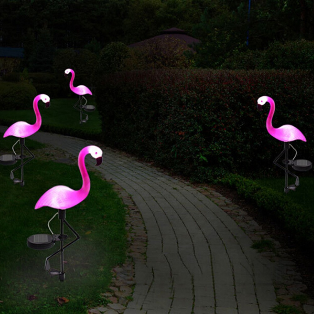 SOLLED Solar Garden Light Simulated Flamingo Lawn Lamp Waterproof Solar Led Lights Outdoor For Garden Decoration Lighting
