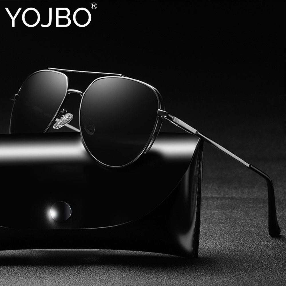 YOJBO Klassische Pilot Fahren Polarisierte Sonnenbrille Männer Frauen Marke Designer Brillen Spiegel UV400 Vintage Männlichen Sonnenbrille Oculos
