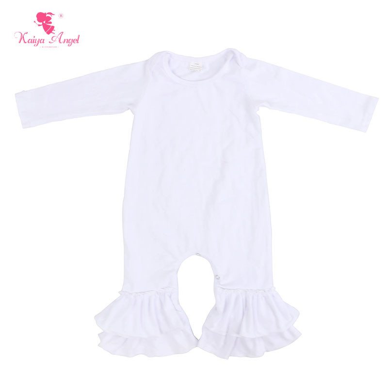 01ecb1498c6 Detail Feedback Questions about Kaiya Angel Baby Romper Hot Sale Newborn  Baby Girl Romper Pure White Fall Long Sleeve Jumpsuit Clothes 0 24M Factory  ...