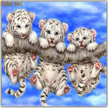 Diamond Painting Cross stitch kit Embroidery Tres tristes tigres 40x40cm 3d square drill rhinestone covered full Canvas