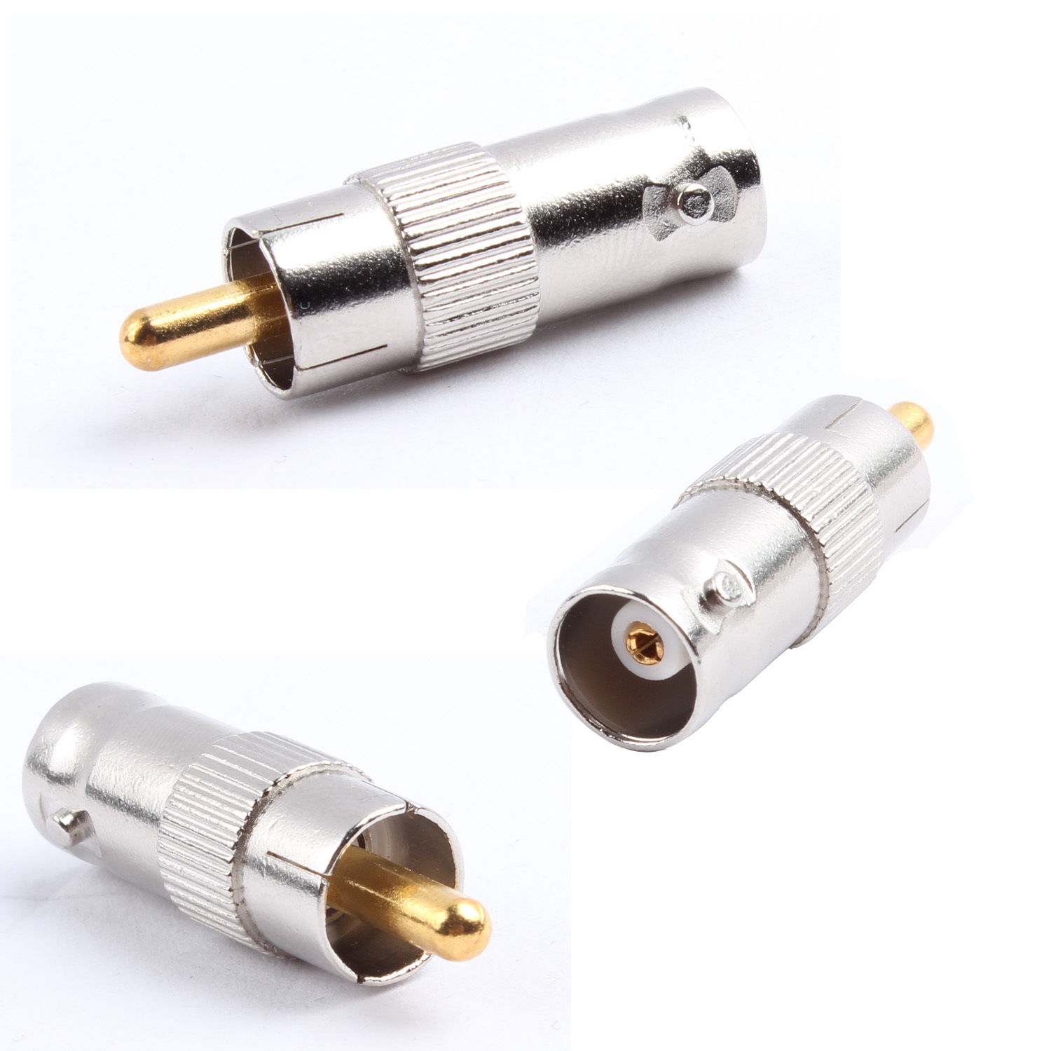 BNC Female to RCA Male Coax Cable Connector Adapter Plug CCTV Video Camera 50pcs 1 pair rca male female for cctv phono rca male plug rca to 2pin spring connector cctv cat5 to camera cctv video bnc balun