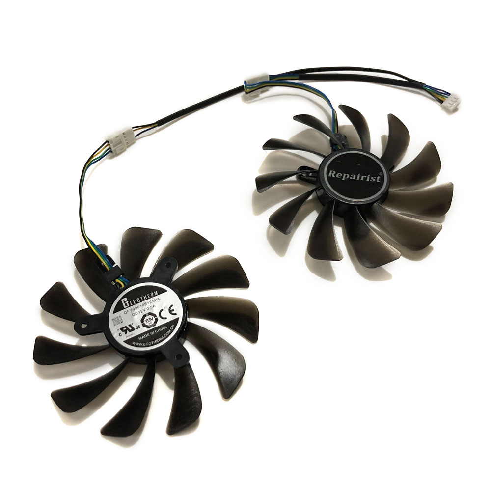 GeForce GTX 1080 Ti AMP edición GPU VGA alternativa refrigerador ventilador de refrigeración para ZOTAC ZT-P10810D-10P gtx1080ti tarjetas de Video enfriamiento