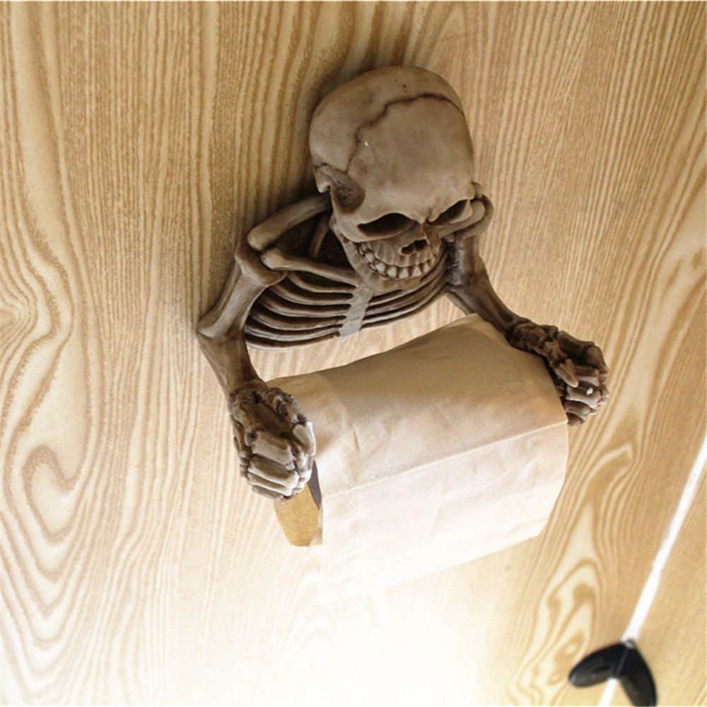 Skull Toilet Paper Towel Roll Holder