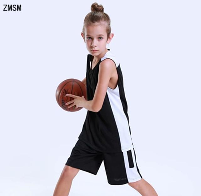8a0c2a6406b ZMSM Kids Basketball jerseys Set Boys   Girls Throwback Basketball uniform  Training suit Custom Children Sports clothes GY7352
