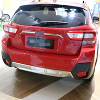 Car Plastic Rear Back Chromed Rear Door Trim Trunk lid Trim For Subaru XV Crosstrek Accessories 2018