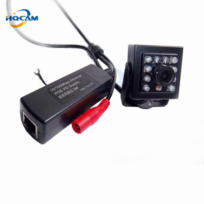 HQCAM 1080 P IR-Cut Menor Visão Noturna 2.0MP Mini Câmera Ip dissimulada 940nm IR IP Rede Onvif POE IP Câmera Em Miniatura rede
