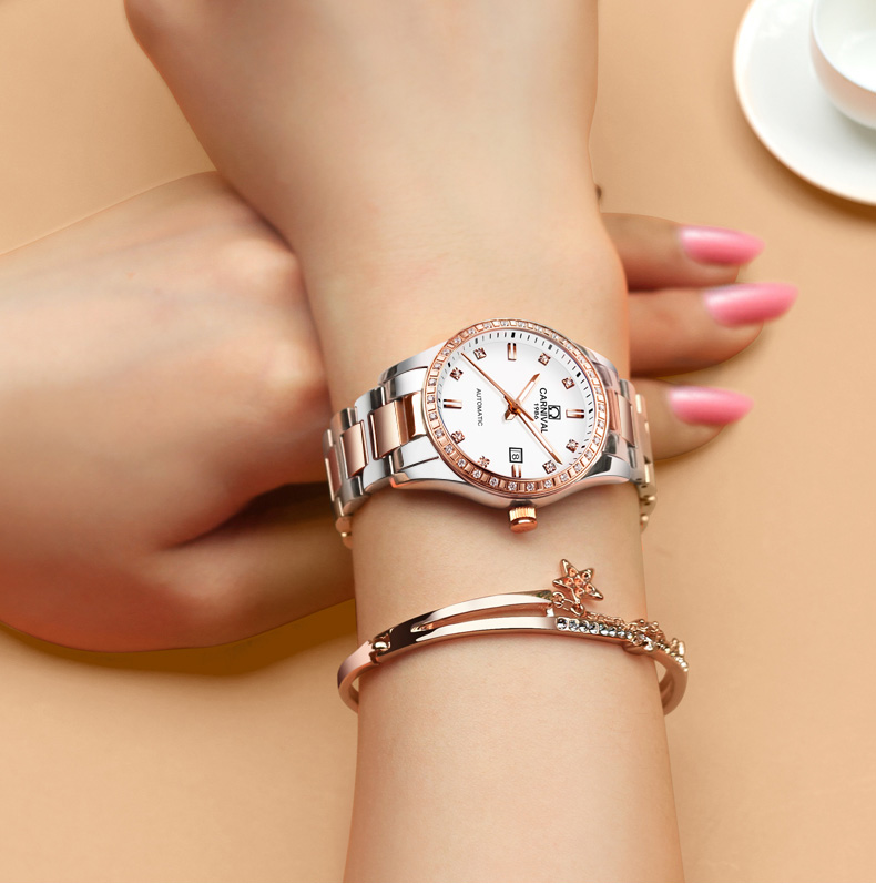 Suíça carnaval relógios femininos marca de luxo
