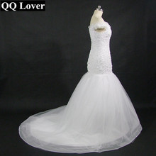 2017 New Sexy Off The Shoulder Mermaid Lace Wedding Dress With Video Custom-made Plus Size Bridal Gown Vestido De Noiva