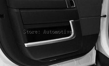 4 stks Voor Land rover Range Rover Vogue L405 Auto-Styling ABS Chrome Binnendeur Decoratie Strips Trim Accessoires Sticker Nieuwe