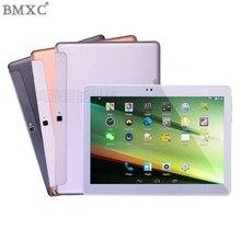 2017 Nueva BMXC 10.1 pulgadas 3G Tablet PC de Metal tabletas android tablet ficha almohadilla Quad Core Tarjeta SIM 32 GB ROM de Doble Cámara de WIFI GPS regalos