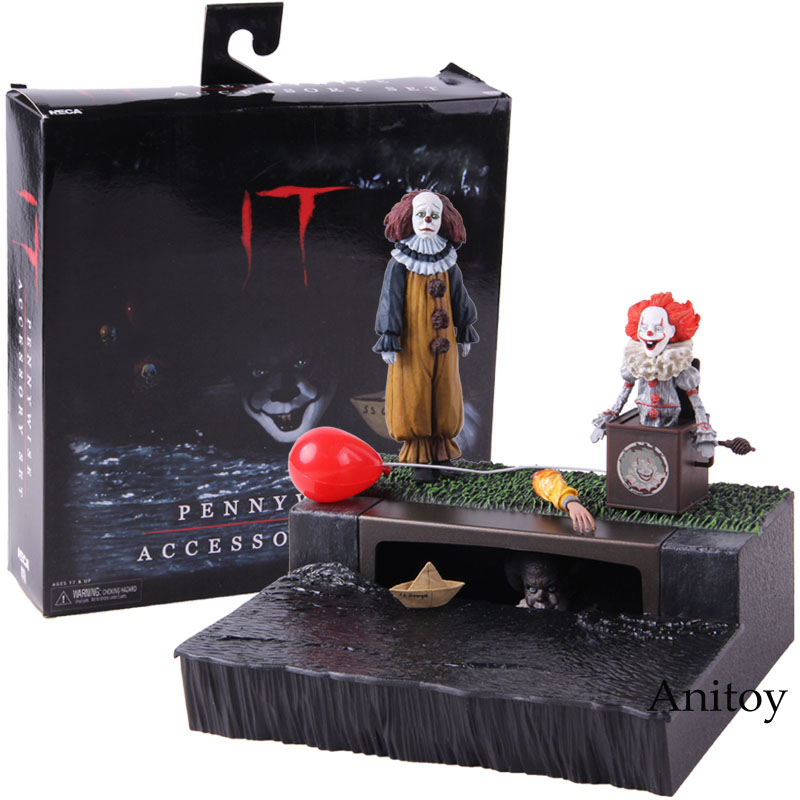 NECA Stephen King's It Pennywise Accessory Set PVC The Clown Pennywise Action Figure Collectible Model Toy