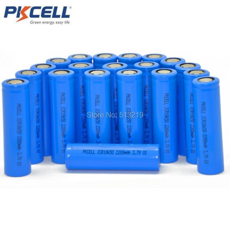 6pcs High Drain 5C 18650 Vape Mod Battery 2200mAh For Electric Vehicles PKCELL