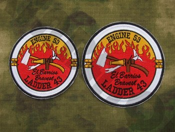 Embroidery patch El Barriss Engine 53 Ladder 43 SEAL TEAM Operation Red Wings Lone Survivor image