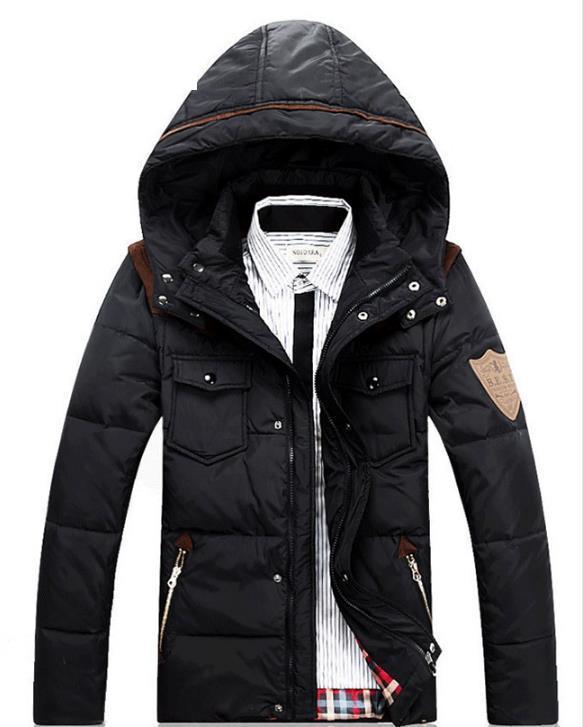 цены на Men 's Cotton Clothing Thickening 2017 New Winter Short Paragraph Slim Jacket Youth Tide Hooded Cotton Jacket в интернет-магазинах