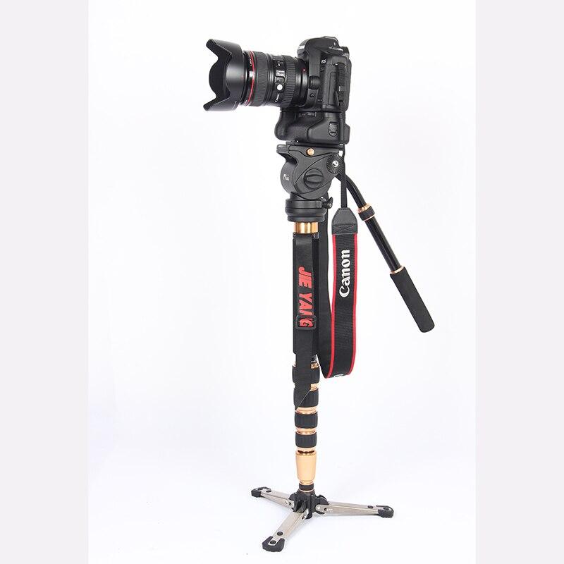 JIEYANG JY-0506 en fibre de carbone professionnel monopode vidéo trépied pour caméra avec trépieds tête sac de transport livraison gratuite JY0506C