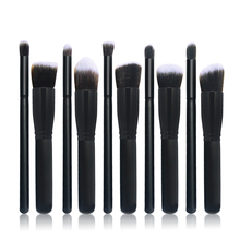 10pcs Professional Cosmetic Makeup Brushes Set Foundation Golden Sliver hand to make up Brush Eyeshadow Makeup