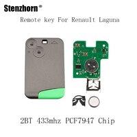 Stenzhorn 2BT 433Mhz PCF7947 Chip Smart Remote Key Keyless Fob For Renault Laguna Espace 2001 2002