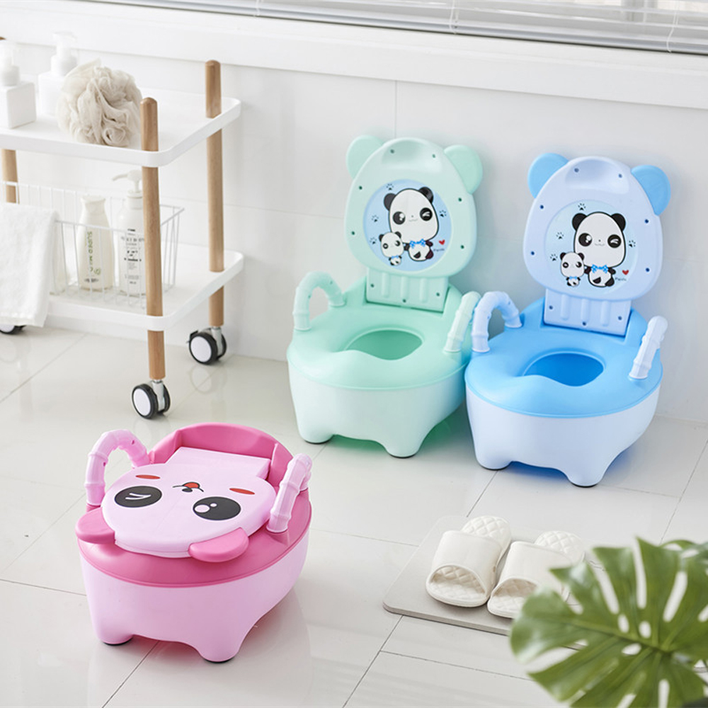 Portable Travel Potty Cute Cow Road Pot Children's Urinal For Boys Baby Potty Training Seat Bedpan Bowl Kids Portable Toilet